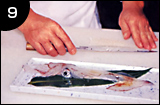 イカ活き造りの作り方 手順9