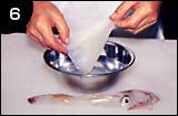 イカ活き造りの作り方 手順6